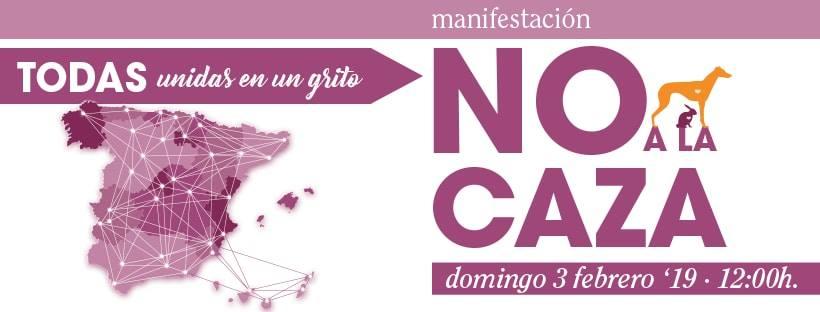 MANIFIESTO NAC. NO A LA CAZA 2019